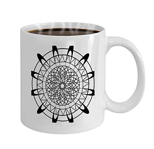 Personalized Mug coffee mug White Ceramic 11 Oz adult coloring book butterfly flowers pages zentang