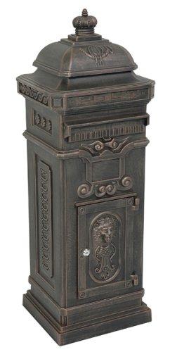 Nostalgie Briefkasten Antik Standbriefkasten Alu - Guss Bronze