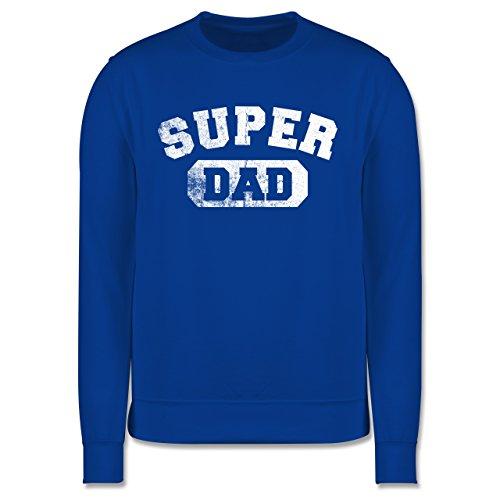 Vatertag - Super Dad - Vintage-&Collegestil - Herren Premium Pullover Royalblau