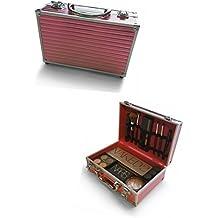Oi Labels - Maletín organizador para maquillaje, portátil, cromo, color rosado