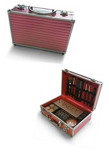 Oi LabelsTM, valigetta portatile per cosmetici, rosa/cromo