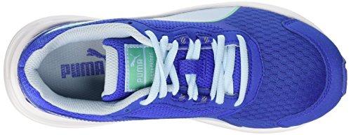 Puma Descendant v3 Unisex-Kinder Sneakers Bleu - Dazzling Blue/Mint Leaf/White