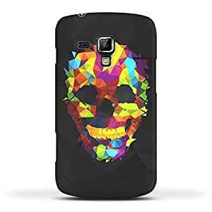 FUNKYLICIOUS Galaxy S Duos 2 S7582 Back Cover Colorful Geometry Skull Design (Multicolour)
