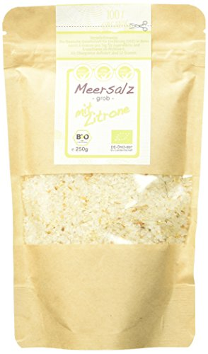 direct&friendly Grobes Meersalz mit Bio Zitrone im Nachfüllpack, 4er Pack (4 x 250 g)