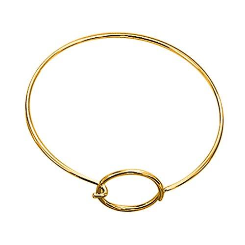SanKidv Armband Kaufen Mode Frauen Gold Silber Punk Manschette Armband Armreif Kette Armband Schmuck Armband Schmuck Armreif (Gold)