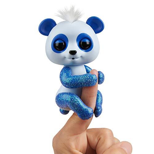 WowWee Fingerlings Panda blau Archie - 3563 / interaktives Spielzeug, reagiert auf Geräusche, Bewegungen und Berührungen