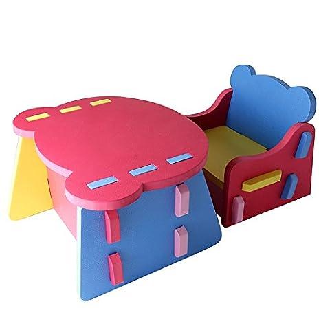 H Cadeau Kinder Tisch Stuhl Babystuhl Schreibtisch-set EVA Schaumstoff Baby