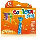 Carioca - Caja de 6 rotuladores Baby Teddy Marker (42815)