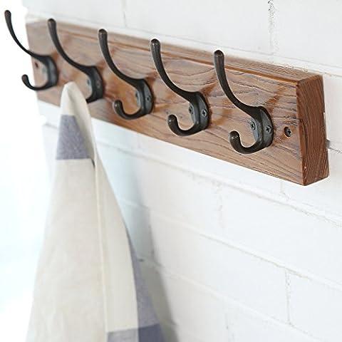 escudo Realwood creativa gancho de la pared vieja gancho para la ropa tiendas de olmo para enganchar la puerta trasera Retrolook ganchos de pared, de 5 50cm * 10cm gancho: