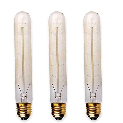 LEDSone T185 Klassische Industrielampe, 60 W, E27, hohe Edison-Glühbirne -