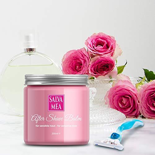 After Shave Balsam für Frauen 200ml | Aftershave gegen Pickel und Rötungen für alle Hauttypen und Intim | Für alle Arten der Haarentfernung - Rasierer/Epilierer für Damen | Salva Mea