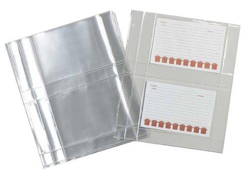 Kunststoff Protector-blätter (Mädesüß Küchen Kunststoff Rezept Karte Displayschutzfolie für 3Ringbücher, 15Blatt)