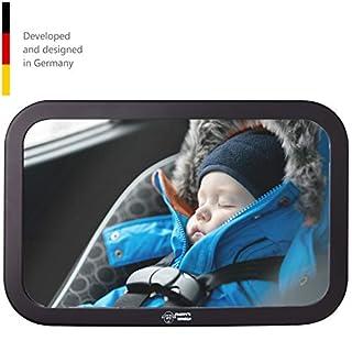 Fluffys World Premium Rücksitzspiegel für Babys - Bruchsicherer Auto-Rückspiegel für Babyschale - Autositz-Spiegel für Kleinkinder