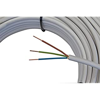 Mantelleitung NYM-J 3x1,5mm² Kabel | 50m Ring, 3 adriges Installationskabel nach DIN VDE 0250-204