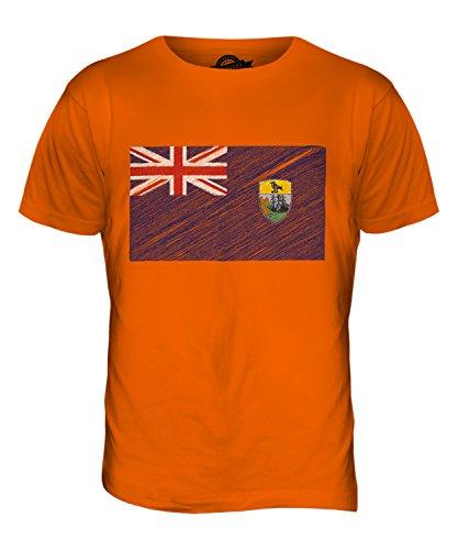 CandyMix St. Helena Kritzelte Flagge Herren T Shirt Orange