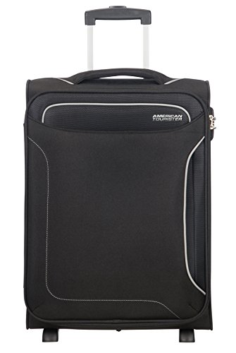american tourister holiday heat bagaglio a mano, upright s, lunghezza 40cm (55cm-42l), nero (black)