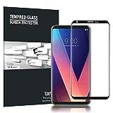 LG V30 / LG V30S ThinQ Schutzfolie, AVIDET Hohe Qualität 3D Glasfolie Display Schutz Folie Vollschutz-mit Ultra-Stärke Ultra-klare Transparenz für LG V30 / LG V30S ThinQ ( Schwarz)