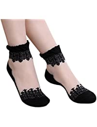 Sanwood Ultrathin Transparent Lace Short Socks