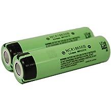 Panasonic NCR18650B 6.7A 3400mAh 18650 batería (2 pilas - caso VIPERTECH incluido)