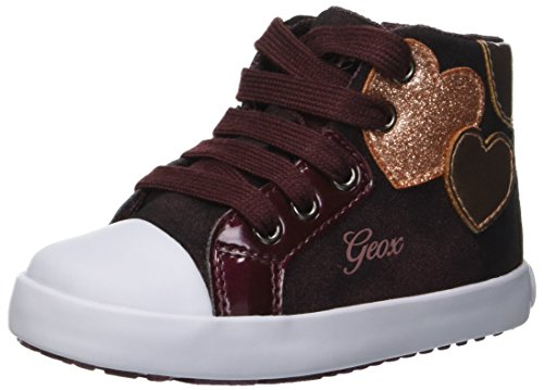 Geox Baby Mädchen B Kilwi Girl C Sneaker, Rot (Dk Burgundy C7357), 24 EU