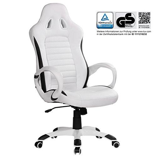 FineBuy sedia da ufficio RACING Bianco Gaming poltrona direzionale ...
