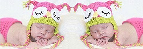 Kostüme Owl Cute Baby (Cute Baby Newborn Infant handgefertigt Crochet Beanie Eule Stil Owl Baby Kleidung fotografiert Zubehör, Cartoon Fashion Kinder Fotografie Requisiten Foto Requisiten Kostüm Kleidung tragen (geeignet für Babys 0–16Monate zu)