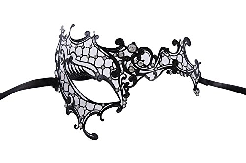 Venezianische Venetianische Maske #11 Metall metal sehr hochwertige Stabile Maske Maskerade Karneval Fasching Verkleidung Kostüm Halloween Party Maskenball Ball Shades of Grey Mr Grey Mitternacht