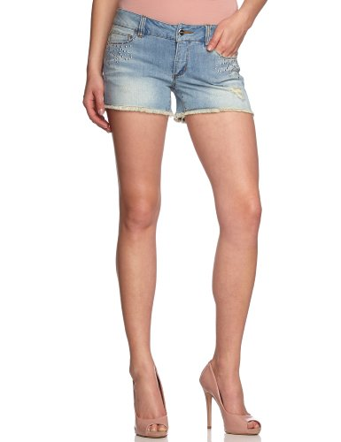 ONLY Damen Jeans Short Normaler Bund 15078945/PRINCE LOW COSTOMIZED SHORTS BOX, Gr. 26, Blau (DENIM Wash:BJ2403)