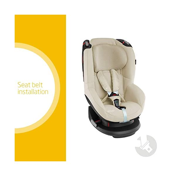 Maxi-Cosi Tobi Toddler Car Seat Group 1, Forward-Facing Reclining Car Seat, 9 Months-4 Years, 9-18 kg, Nomad Sand Maxi-Cosi Toddler car seat suitable for children from 9 to 18 kg (approximately 9 months to 4 years) Install theMaxi-Cosi Tobi car seatusing the car's seat belt and the integrated belt tensioner ensures a solid fit Spring-loaded, stay open harness to make buckling up your toddler easier as the harness stays out of the way 2