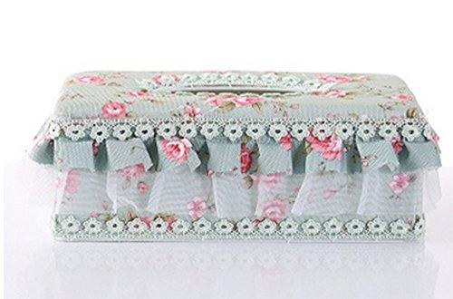 Cinny Tessuto casella stile europeo giardino pizzo tessuto protezione ambientale casa auto di cartone con la carta di pompaggio (23.5*12*9)