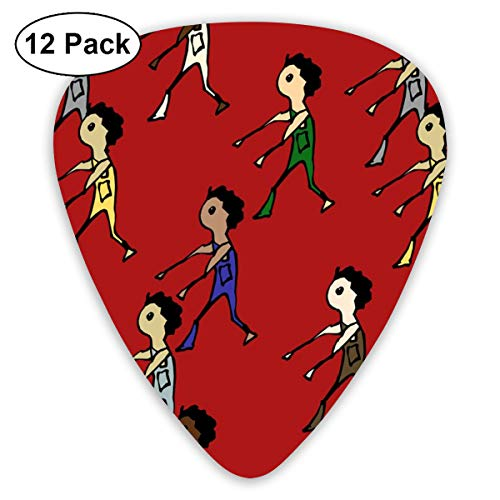 Zombies_812 Classic Celluloid Picks, 12-Pack, For Electric Guitar, Acoustic Guitar, Mandolin, And Bass