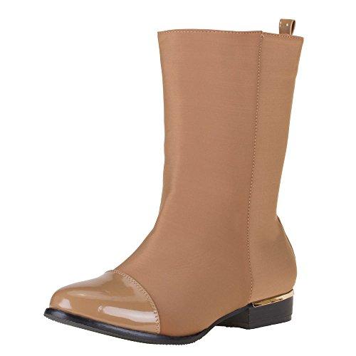 Damen Schuhe, E8083, STIEFEL Braun