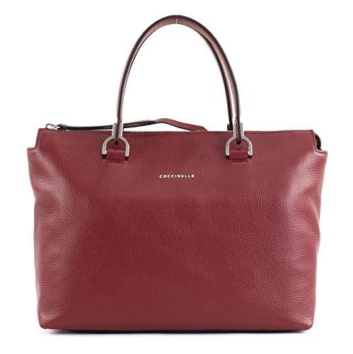 Kalbsleder-leder-satchel (Coccinelle Keyla Handtasche Leder 27 cm)