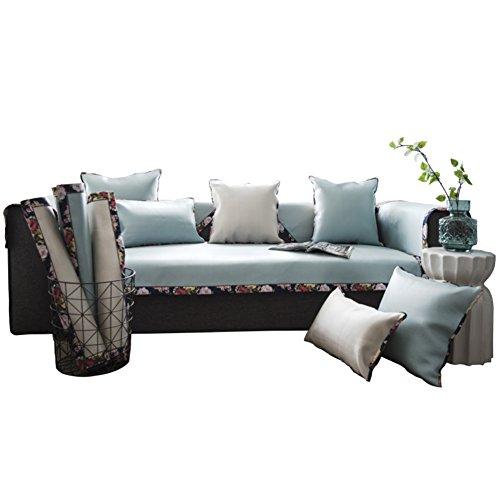Coperture del sofà di estate,seta del ghiaccio,antisdrucciolo,fodera per divano semplice,copertina,divano ammortizzazione,combinazione di pad freddo di estate,moderna-a 70x70cm(28x28inch)