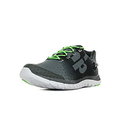 Reebok Men's Reebok Zpump Fusion Shark, Grvl, Green and White Running Shoes - 8 UK/India (42 EU)(9 US)