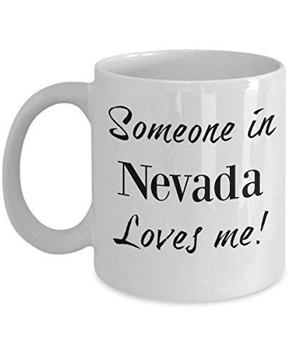 Of State Mug Loves Nevada Someone Present Out Distance Nv Tea Long Me Family In Ceramic Coffee WbH9e2EDIY