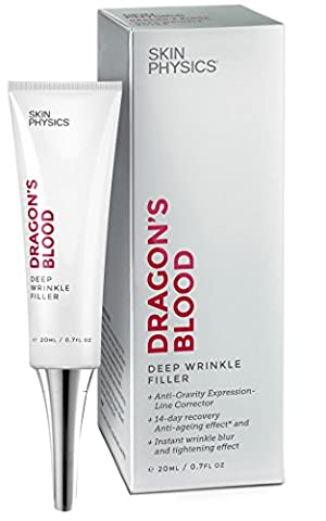 Wrinkle Filler - Dragon's Blood Deep Anti-Wrinkle Anti Aging Advance Corrector. Instantly Fills And Reduces Frown Lines, Crow's Feet, Heavy Wrinkles And Signs Of Ageing. Moisturizes, Smooths And Replenishes Skin. 100% Satisfaction Guarantee (20ml / 0.7 Fl.