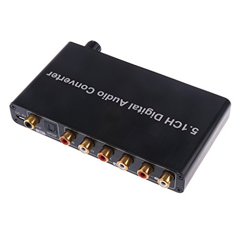 Gazechimp Digital Audio Konverter Decoder Toslink Koaxial auf 5.1CH AV Umwandler Wandler Adapter mit uSB Stromkabel Av-koaxial-adapter