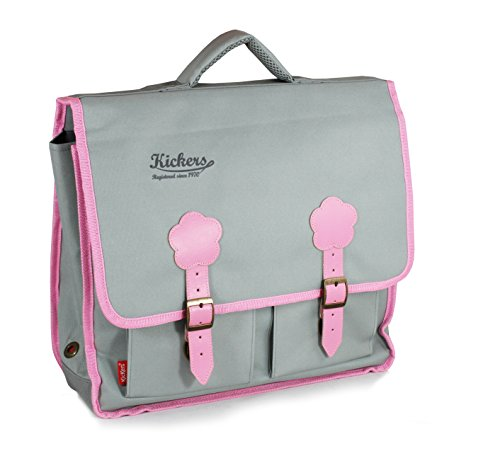 kickers-children-school-backpack-150-l-gris-clair-rose-doux-grey-501230-25