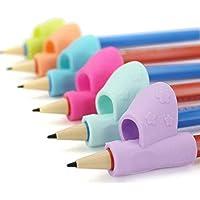 TINGSU - Soporte para lápices de niños, universal, ergonómico, para aprender a escribir, para estudiantes (3 piezas, color al azar) 3pcs/Set, Random Color