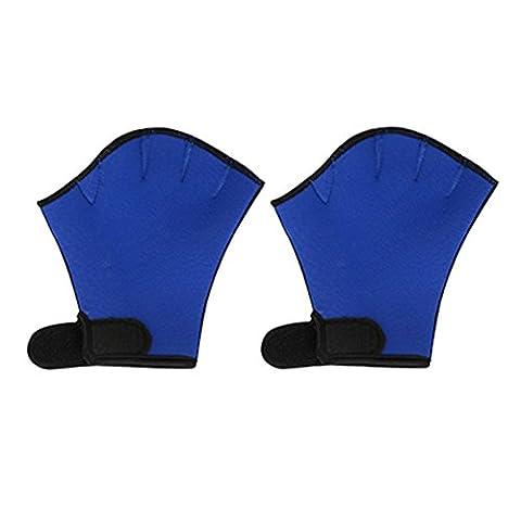 LanLan Sphere Webbed Swim Gloves Diving Finger Fin Surfing Swimming Sports Paddle Training Fingerless Gloves