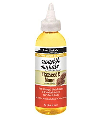 Tante Jackies Nähren My Hair–Leinsamen und Monoi Öl für Haar in der insgesamt Gesundheit (Leinsamen-öl Für Die Haare)