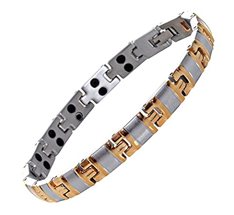 Titanium Magnetic Bracelet for Natural Pain Relief Therapy From Mind