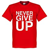 Never Give Up Liverpool T-Shirt - rot