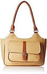 Fantosy Women's Handbag (Beige and Tan) (FNB-387)
