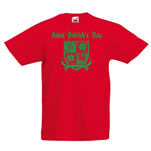 Kinder T-Shirt Saint Patrick's Day Shamrock Symbol - -