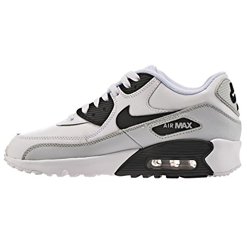 Nike Unisex-Kinder Air Max 90 Leather (Gs) Shoe Low-Top Schwarz