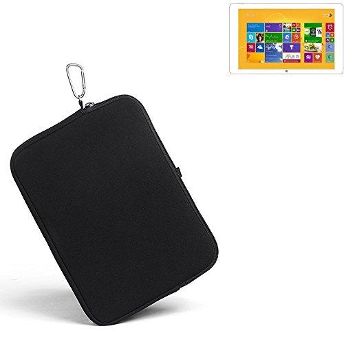 K-S-Trade® für Kiano Intelect 8.9 MS 3G Neopren Hülle Schutzhülle Neoprenhülle Tablethülle Tabletcase Tablet Schutz Gürtel Tasche Case Sleeve Business schwarz für Kiano Intelect 8