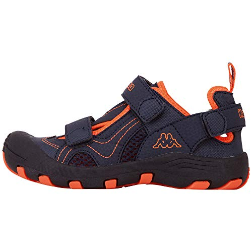 Kappa Unisex-Kinder DIGGLE Kids Sneaker Blau (Navy/Orange 6744) 33 EU