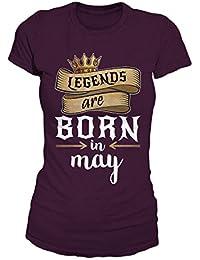 Legends Are Born In May Geburtstag Geschenk T-Shirt Damen